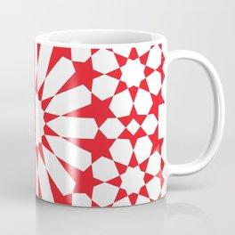Moroccan Pattern 3 Red/White Coffee Mug