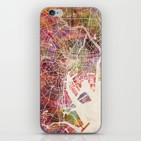 tokyo iPhone & iPod Skins featuring Tokyo by MapMapMaps.Watercolors