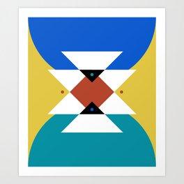Minimalist Southwest // Blue and Yellow Art Print