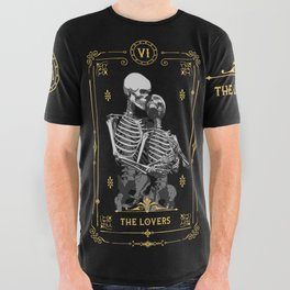 The Lovers VI Tarot Card All Over Graphic Tee