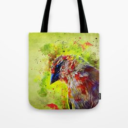 spotted madagascar fody wsstd Tote Bag