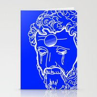 greek Stationery Cards featuring Greek Cry by Bombarda