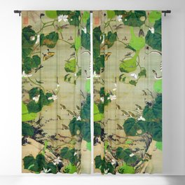 12,000pixel-500dpi - Ito Jakuchu - Pond insects - Digital Remastered Edition Blackout Curtain