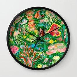It's a sea green world Wall Clock