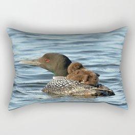 Loon piggy back ride Rectangular Pillow