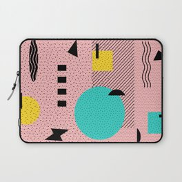 Hello Memphis Peach Berry Laptop Sleeve
