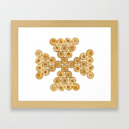 Top view of the hunt cartridges Framed Art Print