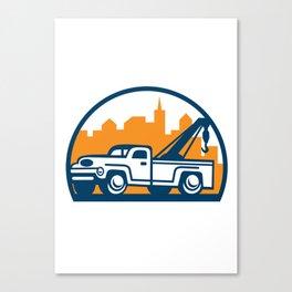 Vintage Tow Truck Wrecker Retro Canvas Print