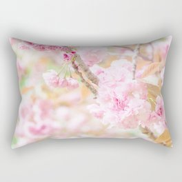 double cherry blossoms in japanese garden Rectangular Pillow