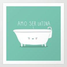 Latina Art Print