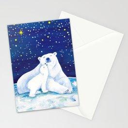 Polar bears, arctic animals Stationery Cards