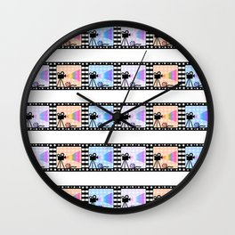 Movie stripes Wall Clock