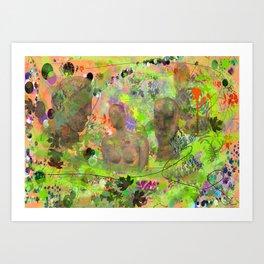 Botanical Figures Art Print