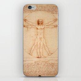 Vitruvian Man (c. 1490) iPhone Skin