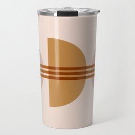 Amber Abstract Half Moon 1 Travel Mug