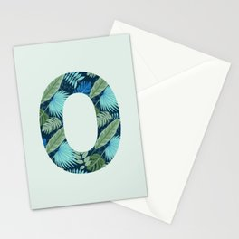 Jungle Palm Trees Initial Monogram Letter O Stationery Cards