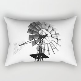 Windmill Black and White Rectangular Pillow