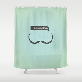 Salvador Dali (Famous mustaches and beards) Shower Curtain