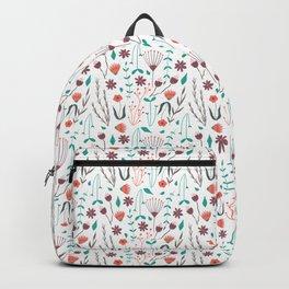 Cute floral tile Backpack