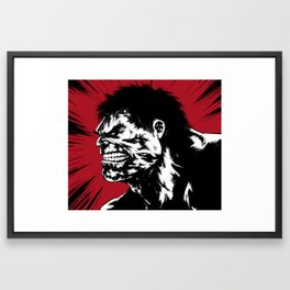 Hulk - Red Framed Art Print