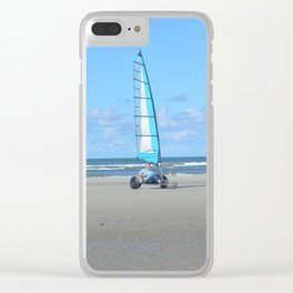 Beach cart on the beach Clear iPhone Case