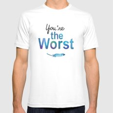 You're the worst MEDIUM White Mens Fitted Tee