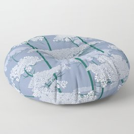 Queen Anne's Lace | Country Blue Floor Pillow