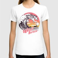 T-shirts featuring Wolf Beach by Hillary White