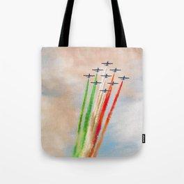 Frecce Tricolori in action Tote Bag