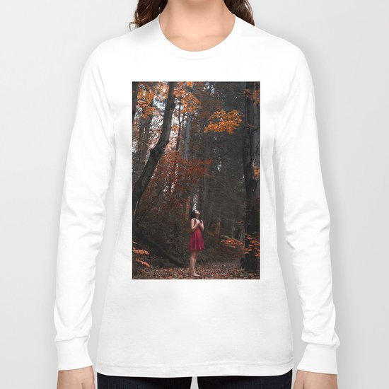 Girl in the red nature Long Sleeve T-shirt