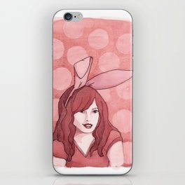 Polka Dot Bunny iPhone Skin