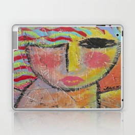 Abstract Portrait of a Woman On Wood Laptop & iPad Skin