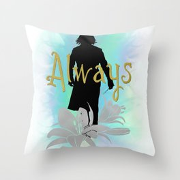 Always: Severus with lilies Throw Pillow