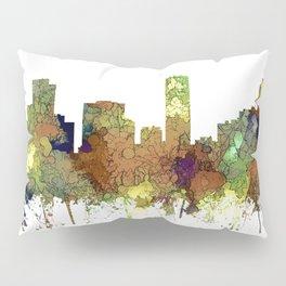 Denver, Colorado Skyline SG - Safari Buff Pillow Sham