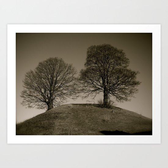 Twin Trees Art Print