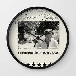 Call Me By Your Name Vintage Wall Clock
