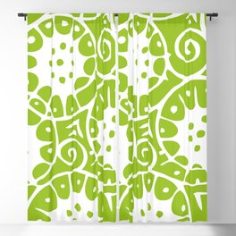 Lime Swirl Pattern   Swirl Pattern   Abstract Patterns   Green and White   Blackout Curtain