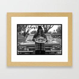 East Side Chola Framed Art Print