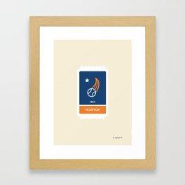 Houston Baseball Ticket (23 of 30) Framed Art Print