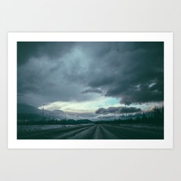 Bound to the Road Art Print