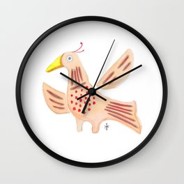 Folky Bird Wall Clock