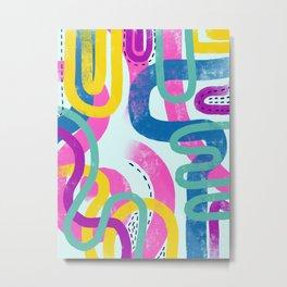 Fun bright abstract art Metal Print