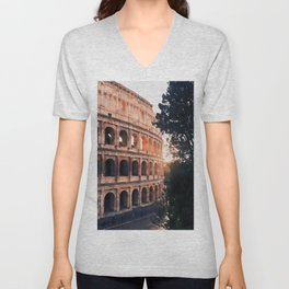 Colosseum, Rome Unisex V-Neck