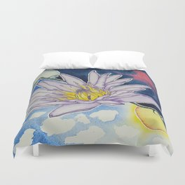 Night and Day Water Lily Duvet Cover