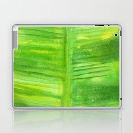 Banana Leaf Watercolor Painting Laptop & iPad Skin