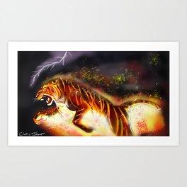 Fire Tiger Art Print
