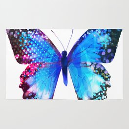 Big Blue Butterfly Rug