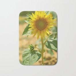 Cheerful sunflower Bath Mat