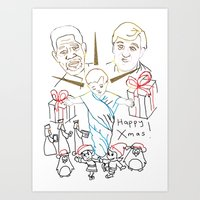 atheist Art Prints featuring Atheist Christmas by Braven