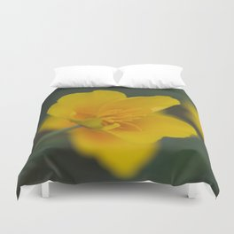 California Poppy Open Duvet Cover